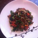 Lentil and Kale Stir-Fry