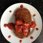 Wholemeal Pancakes with Strawberry Sauce